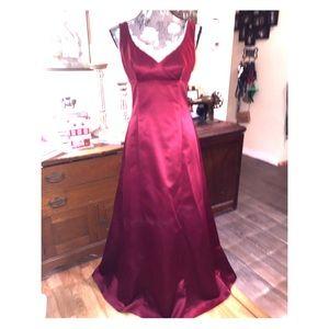 Burgundy Satin gown